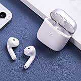 Naack Auriculares Bluetooth Inalámbricos sin Cable, Tactil Resistentes al Agua -Manos Libres para Correr, Bici, Gimnasio, Resistente al Agua IPx7, Doble micrófono.Blanco