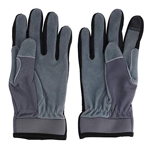 Steekwerende handschoenen, 1 paar touchscreen vingertoppen Veiligheid Ademende handschoenen voor tuinieren Werken met lange mouwen, voor open haard, fornuis, oven, grill, lassen, BBQ, mig(L)