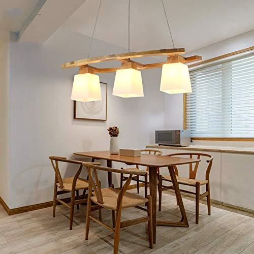 *MMDJ Retro Holz Kronleuchter Lampe E27 LED Wohnzimmer Leuchten Pendelleuchten Deckenleuchten Leuchten,Warmlight,73x34x18cm*