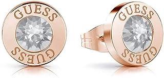 Cristalli in acciaio inox orecchini di congettura chirurgico lucido oro rosa placcato UBE78099 [AC1152]