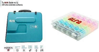 Alfa Style to You Funda para Maquina de Coser, Azul, 6050-Caja 25 canillas Colores