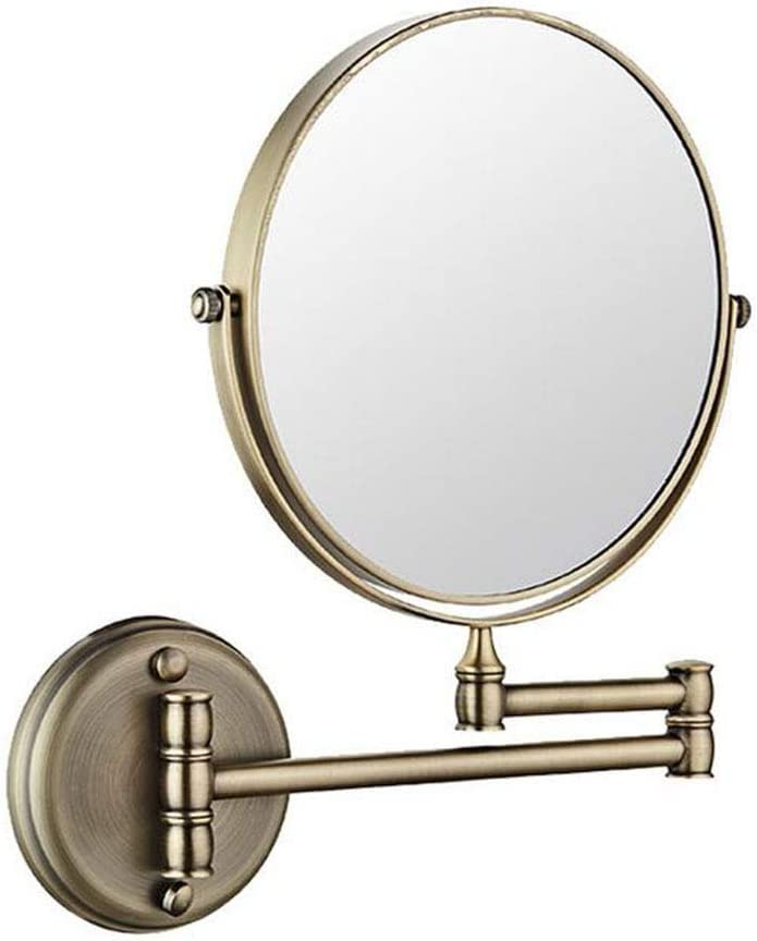 LYRR Fees free Bathroom Mirrors Wall Mounted Folding Double-S Swivel Safety and trust 360°