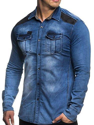 Tazzio nauwsluitende jeans hemd 16312