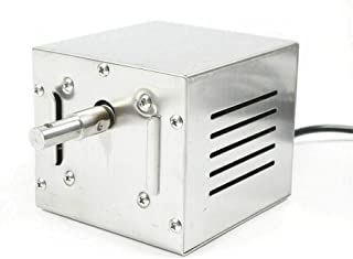 SHZICMY Moteur de barbecue pour broche, rôtissoire, rôtisserie, moteur de barbecue en acier inoxydable pour rôtisserie, br...