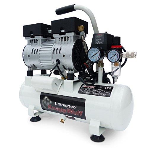 KnappWulf Flüster Kompressor Druckluftkompressor KW1008 Airbrush 69dB 8L Kessel