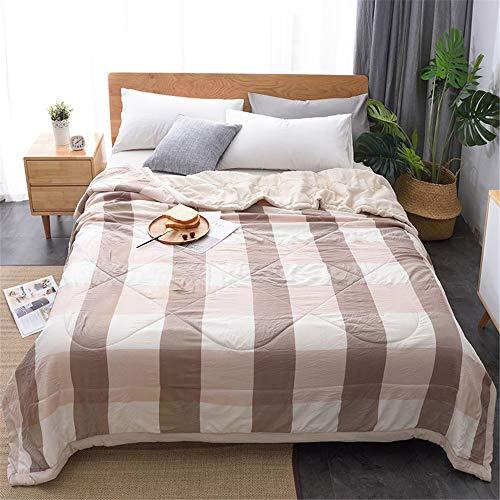 Chickwin Plaid Tagesdecke Bettüberwurf Gesteppt, Mikrofaser Tagesdecke Schlafzimmer Steppdecke Decke Überwurf Wohnzimmer Sofaüberwurf für Einzelbett Doppelbett (200x230cm,Beigebraun)