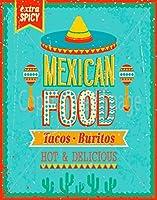 メキシコ料理大型ティンサイン壁鉄絵レトロプラークヴィンテージメタルシート装飾ポスターおかしいポスター吊り工芸用バーガレージカフェホーム