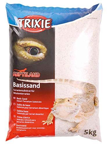 Trixie 76134 Basissand für Wüstenterrarien, 5 kg, weiß