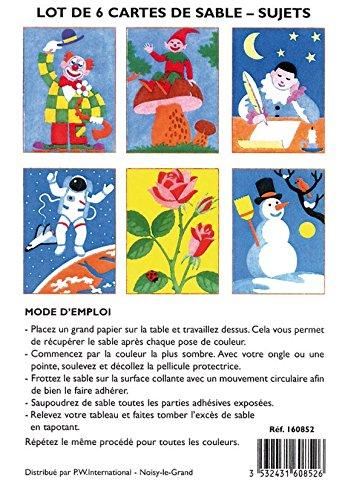 Lot 6 Cartes De Sableu Sujets