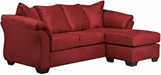 Ashley Furniture Signature Design - Darcy Sofa with Chaise - Microfiber - Salsa Red