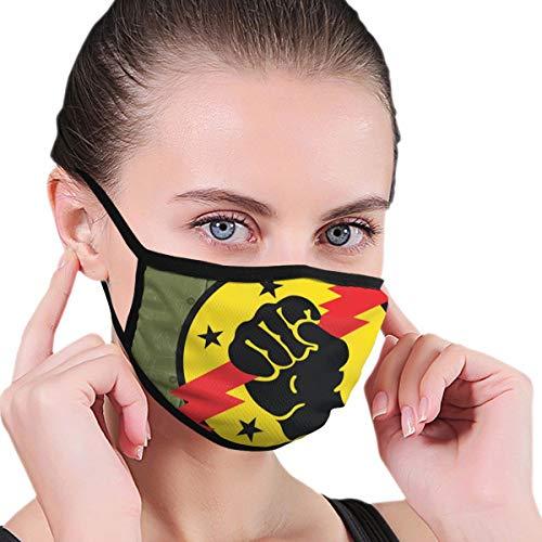 Gesichtsmaske Teufel Red Bolt Icon wiederverwendbar waschbar Anti-Staub Unisex für Mann Frau Schwarz Face Shield Bandana Sturmhaube Radfahren Outdoor Sport