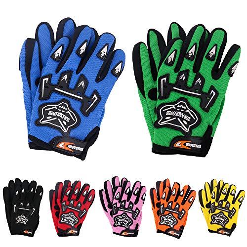 Zorax Grün (L - 7cm) Junior Kinder MX Motocross Handschuhe Kinder Dirty Bike Quad Racewear Motorrad Handschuhe