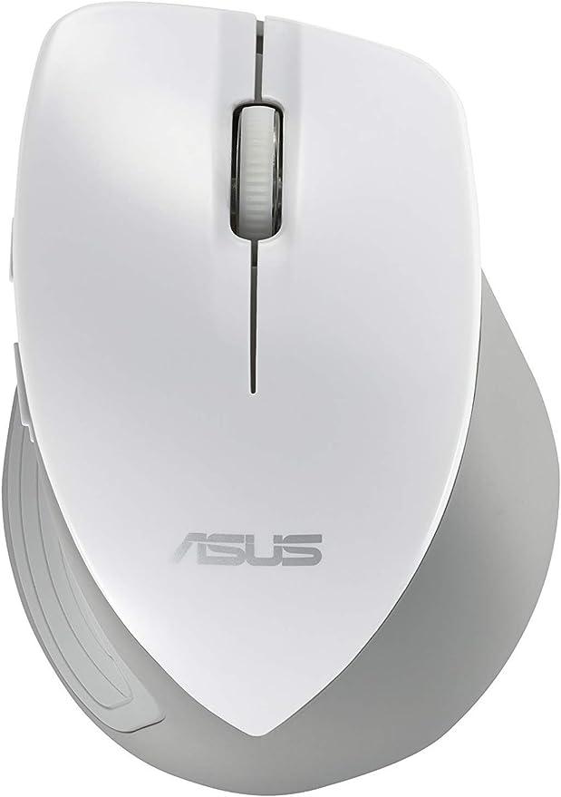 Asus WT465 - Ratón óptico inalámbrico (USB), Color Blanco