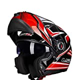 Mdsfe Original flip motorcycle helmet for men and women with double sun visor, UV-resistant modular motorcycle helmet with internal sun visor - 18 X XL