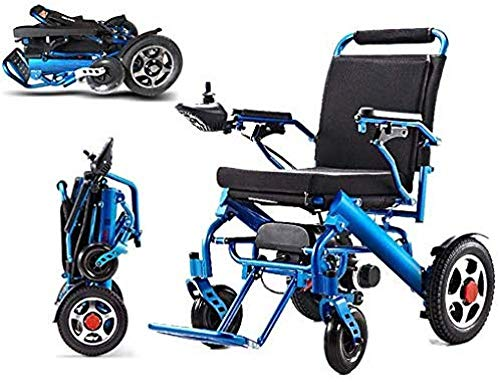 HuAma Elektrorollstuhl Faltbarer Elektrischer Rollstuhl Tragbarer Leichter Rollstuhl Mit Fernbedienung Und Doppelter Federung Für Ältere Menschen Patienten Mit Behinderungen