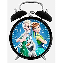 Frozen Twin Bells Alarm Desk Clock 4 Home Office Decor E56 Nice for Gifts