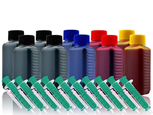 1000ml Nachfülltinte Refillset Druckertinte für HP-Druckerpatrone 364 364XL