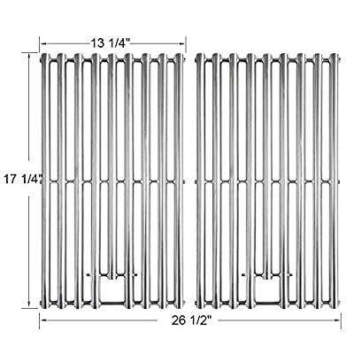 """BBQ funland Stainless Steel Cooking Grate Grid Replacement for Nexgrill 720-0830H 720-0773, Charbroil 463411512, Kenmore 122.16134 Gas Grill Parts 17 1/4"""" x 13 1/4"""", Set of 2"""