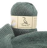 TEHETE Merino Wool Yarn for Knitting 3-Ply Soft...