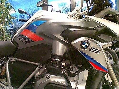 2 ADESIVI 3D PROTEZIONI LATERALI RALLY per MOTO compatibile con BMW GS R1200 2013-2016