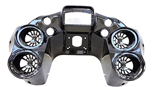 """Mutazu Inner Front Fairing w Quad 6.5"""" Speaker pods Harley Road Glide 1998-2013 (WS-22)"""