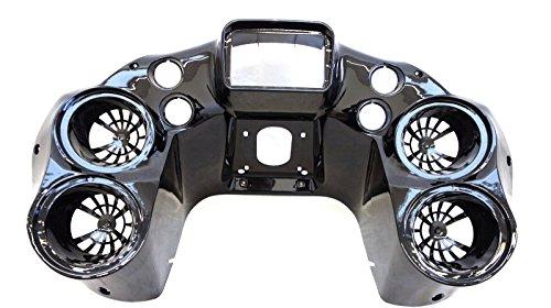 Mutazu Inner Front Fairing w Quad 6.5' Speaker pods Harley Road Glide 1998-2013 (WS-22)