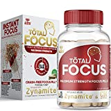 AZOTH Focus Supplement & Brain Booster Pills - Max Strength Instant Focus, Energy, Attention & Concentration - with Zynamite & C3X Caffeine - Crash-Free Nootropic (15 Pills)