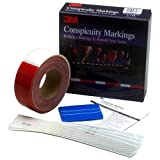 3M Scotchlite Red & White Conspicuity DOT Tape - Model# 06398