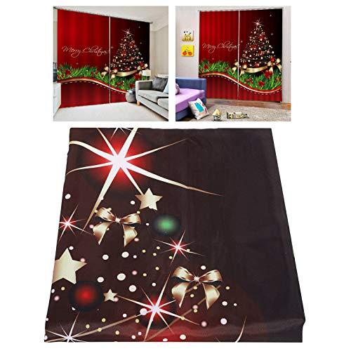 Wodoodporna zasłona świąteczna zasłona prysznicowa dekoracje okienne ozdoby świąteczne akcesoria łazienkowe dom salon dekoracja świąteczna (170 * 200 cm - S4)