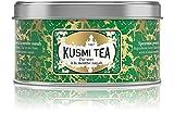 Kusmi Tea - Thé vert à la menthe nanah - Mélange conditionné en France - Aussi idéal en thé glacé - Boîte métal 125g - Environ 50 tasses