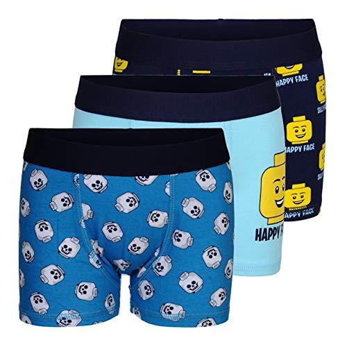 LEGO Wear Cm Boxer, Mehrfarbig (Dark Navy 590), 104 (3er Pack) für Kinder