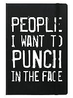 (グラインドストア) Grindstore オフィシャル商品 People I Want To Punch In The Face ハードカバー A5サイズ ノート (ワンサイズ) (ブラック)