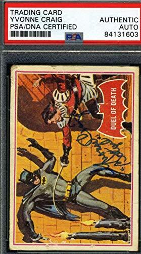 Yvonne Craig Coa Hand Signed 1966 Batman Card #41a Autograph - PSA/DNA Certified - TV Trading Cards