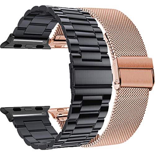 2pcs bandas para apple watch se band series 6 5 4 44 mm 40 mm malla de acero inoxidable loop 3 42 mm 38 mm correa bandas comerciales