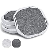 UMIRRO Modern Decorative Coasters for Drinks Absorbent, Farmhouse Coasters for Drinks, Coffee, Beer, Wine | Large Bar Coasters for Tabletop Protection, Unique Housewarming Gift | Black/Grey Set of 4