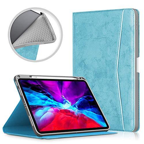 Poooooi Adecuado para iPad AIR4 10,9 Pulgadas Resistencia A La Caída De La Tableta Caso Hardbanding Sleep Despertar Flip Rotulador De La Bandeja Bandeja TPU Cáscara Suave,Light Blue,iPad Air4 10.9