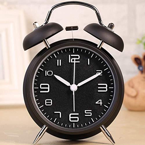 Dekorative Wanduhren Wecker Sleep Timer 4 Zoll Vintage Loud Bell Wecker Tinkerbell Wecker mit Hintergrundbeleuchtung für Schlafzimmer Tisch Dekoration Reisewecker Mini Clock