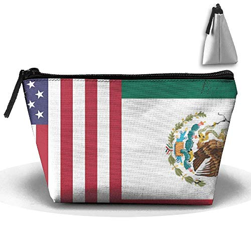 Bandera Americana de México Bolsa Trapezoidal Impermeable Bolsa de cosméticos Bolsa de...