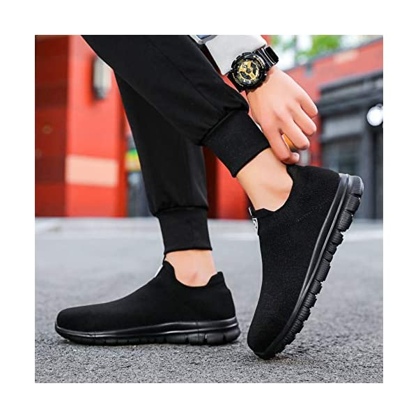 LARNMERN Steel Toe Socks Shoes Work Safety Sneakers Lightweight Industrial & Construction Slip-on Shoe
