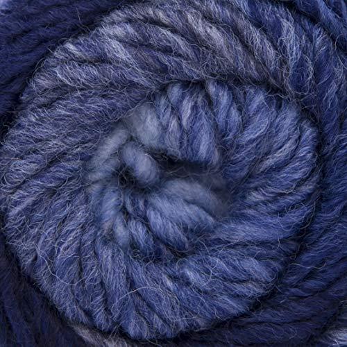 ggh Joker, Farbe:022 - Marine-Jeans-Blau meliert, Schurwolle Mischung, 50g Wolle als Knäuel, Lauflänge ca.90m, Verbrauch 550g, Nadelstärke 6-8, Wolle zum Stricken und Häkeln