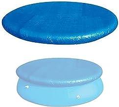 Hmpet 305/366 Lonas para Piscinas,Cubiertas de Piscinas Desmontables,Cobertor Piscina Invierno con Amarres De Cuerda,Azul,366cm