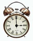 COOJA Vintage Reloj Despertador de Doble Campana con Sonido Fuerte, Alarma...