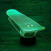 LED USB 子供用ナイトライト 3DイリュージョンLedテーブルランプスポーツバレーボールボールシェイプナイトライトキッズ寝室の装飾ギフト子供のためのLedナイトライト-A1224_リモコン