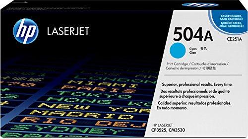 HP 504A (CE251A) Blau Original Toner für HP Color Laserjet CP3525, HP Color Laserjet CM3530
