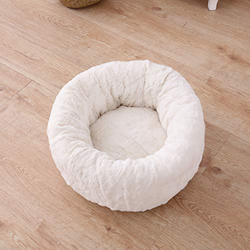 Round Pet Beds for Indoor Cats or Small Dogs Self-Warming Deep Dish Cuddler Cat Cushion Bed Ultra Soft Winter Plush Dog Bed
