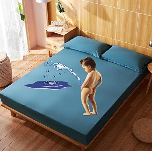 XLMHZP Funda colchon Impermeable,Funda de colchón Impermeable Anti ácaros a Prueba de sábanas Protector de colchón para colchón de Cama Topper Transpirable-G_120x200cm
