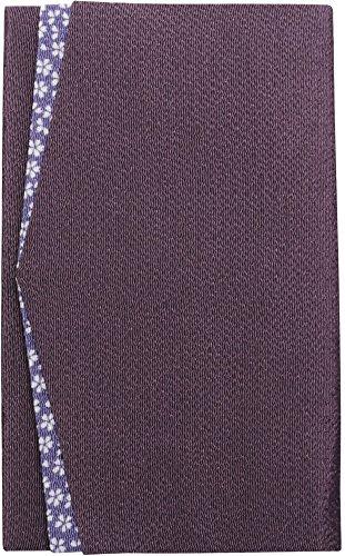 丸全 袱紗 ちりめん桜小紋 金封ふくさ 箱入り 紫