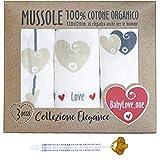 Mussole Neonato In Cotone Morbido ed Organico per Bimbi E Bebè. Ideali Come Asciugamani C...