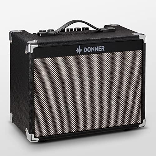 Donner DA-20 Amplificatore per Chitarra Elettrica con 8' Altoparlanti con Cuono Pulito e Distorto a Doppio Canale Design del Circuito