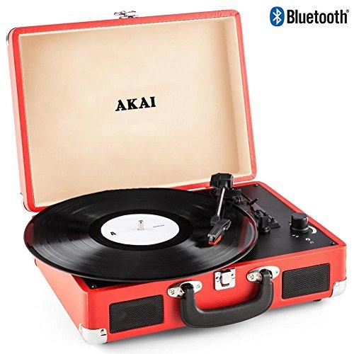 Akai - Tocadiscos de maletín, Compacto, portátil, 33-45-78